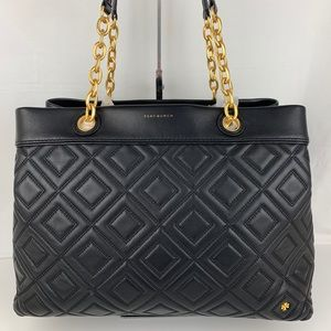 New Tory Burch Fleming Triple Compartment Tote